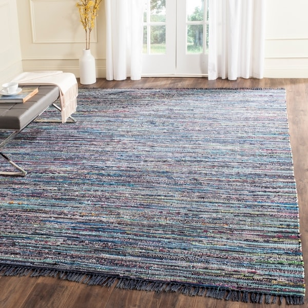 Safavieh Hand-Woven Rag Ink/ Multi Cotton Rug - 10' x 14'