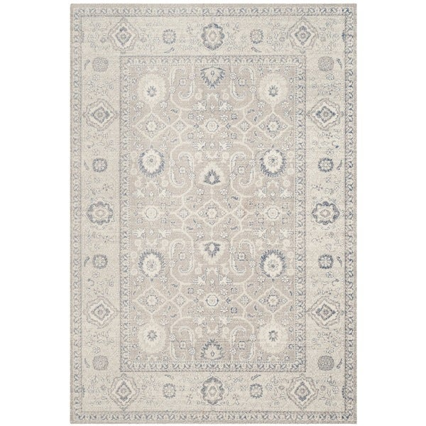 Safavieh Patina Taupe/ Ivory Cotton Rug - 10' x 14'