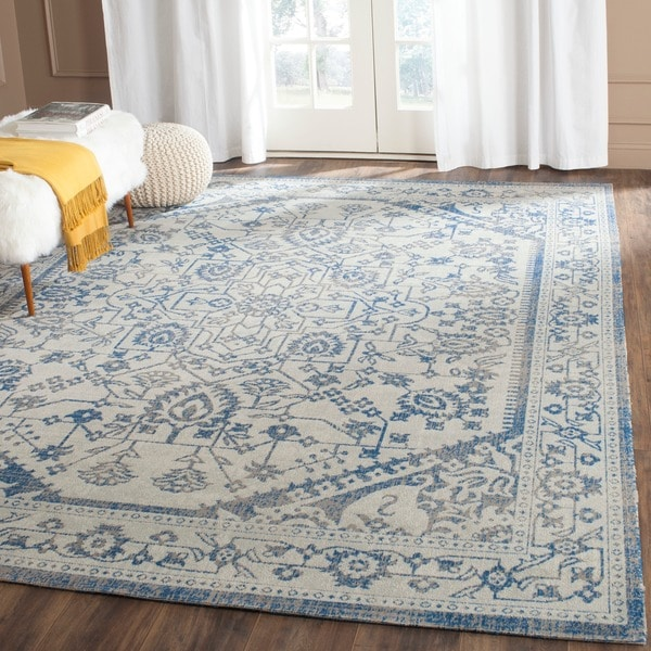 Safavieh Patina Light Grey/ Blue Rug - 10' x 14'