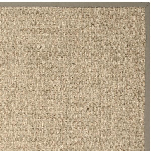 safavieh casual natural fiber and grey border seagrass rug