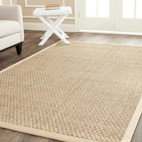Clay Alder Home Coldwater Casual Natural Fiber Natural and Beige Border Seagrass Rug (10' x 14')