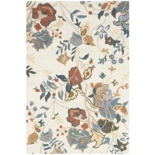 Safavieh Handmade Blossom Red/ Blue Wool Rug (3' x 5')