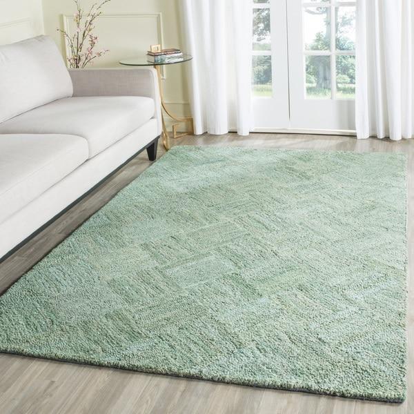 Safavieh Hand-Tufted Nantucket Green/ Multi Cotton Rug (10' x 14')