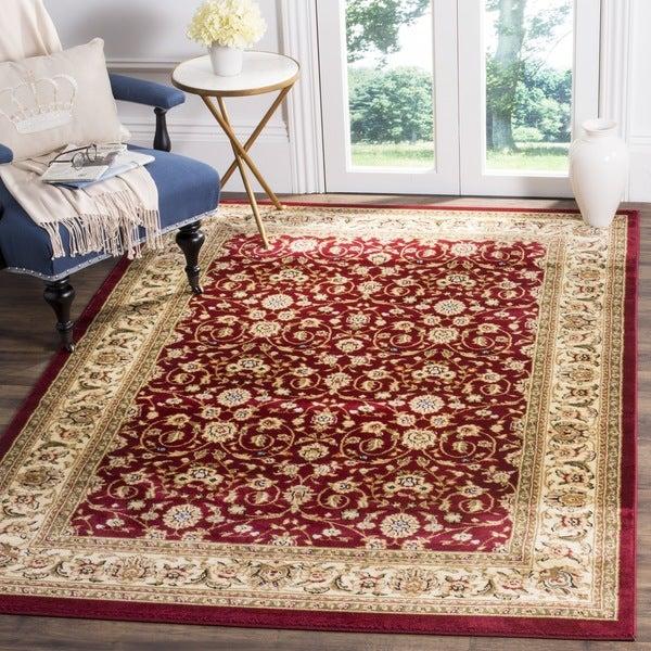 safavieh lyndhurst oriental burgundy ivory rug 10u0026x27