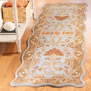 Safavieh Handmade Heritage Timeless Traditional Blue/ Beige Wool Rug (9'6 x 13'6)