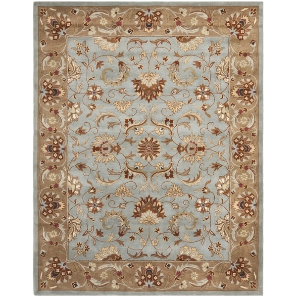 Safavieh Handmade Heritage Timeless Traditional Blue/ Beige Wool Rug - 9'6 x 13'6