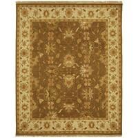 Safavieh Hand-Woven Sumak Brown/ Ivory Wool Rug - 6' x 9'