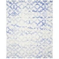 Safavieh Handmade Dip Dye Watercolor Vintage Ivory/ Blue Wool Rug - 6' x 9'