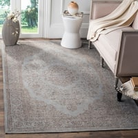 Safavieh Classic Vintage Grey Cotton Distressed Rug - 6'7 x 9'2