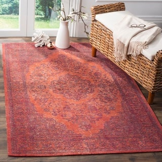 Safavieh Classic Vintage Overdyed Red Cotton Distressed Rug (6'7 x 9'2)