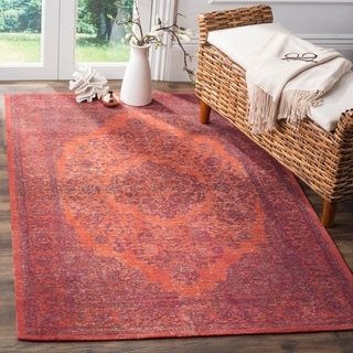 Safavieh Classic Vintage Red Cotton Rug (6'7 x 9'2)