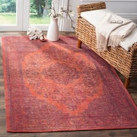 Safavieh Classic Vintage Overdyed Red Cotton Distressed Rug (6'7 x 9'2) - 6' x 9'