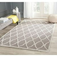 Safavieh Hand-Tufted Cambridge Dark Grey/ Ivory Wool Rug - 9' x 12'