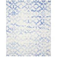 Safavieh Handmade Dip Dye Watercolor Vintage Ivory/ Blue Wool Rug - 5' x 8'