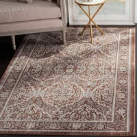 Safavieh Valencia Grey/ Brown Distressed Silky Polyester Rug - 8' x 10'