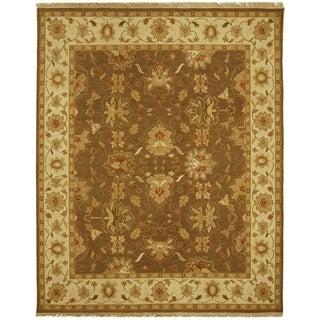 Safavieh Hand-Woven Sumak Brown/ Ivory Wool Rug (4' x 6')