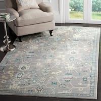 Safavieh Valencia Mauve Distressed Silky Polyester Rug - 8' x 10'