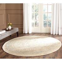 Safavieh Vintage Oriental Ivory/ Light Blue Distressed Rug (6'7 Round)