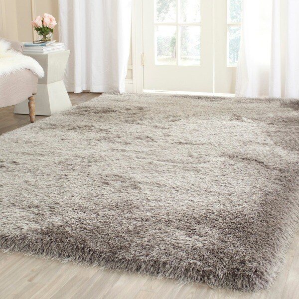 Safavieh Hand-Tufted Thom Filicia Shag Silver Polyester Rug - 7'6 x 9'6