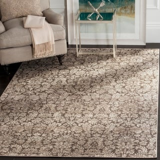 Safavieh Vintage Damask Brown/ Cream Distressed Rug (5'1 x 7'7)