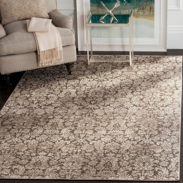 Safavieh Vintage Damask Brown/ Cream Distressed Rug - 5'1 x 7'7