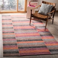 Safavieh Hand-Woven Striped Kilim Rust Wool Rug - 5' X 8'
