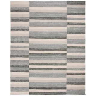 Safavieh Hand-Woven Striped Kilim Grey Rug (8' x 10')