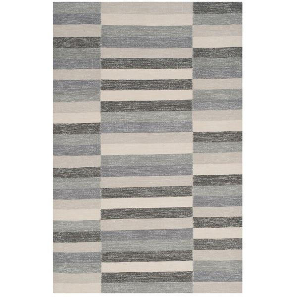 Safavieh Hand-Woven Striped Kilim Grey Rug - 8' x 10'
