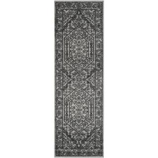 Safavieh Adirondack Vintage Silver/ Black Runner Rug (2u00276 x 16u0027)