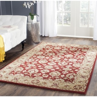 Safavieh Hand-Tufted Stratford Red/ Ivory N.Z. Wool Rug (8' x 10')