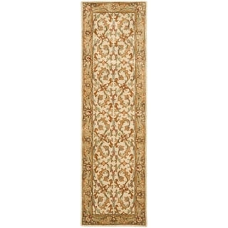 Safavieh Handmade Heritage Timeless Traditional Beige/ Gold Wool Rug (2'3 x 20')