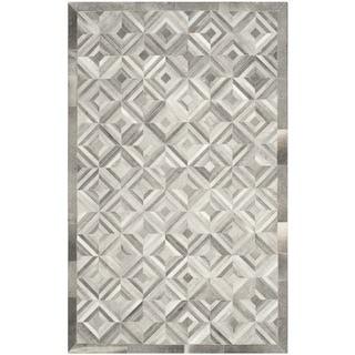 Safavieh Handmade Studio Leather 200 Modern Grey Rug (5' x 8')