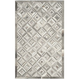 Safavieh Handmade Studio Leather 200 Modern Grey Rug (8' x 10')