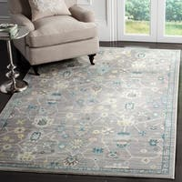 Safavieh Valencia Mauve/ Mauve Polyester Rug (5' x 8')