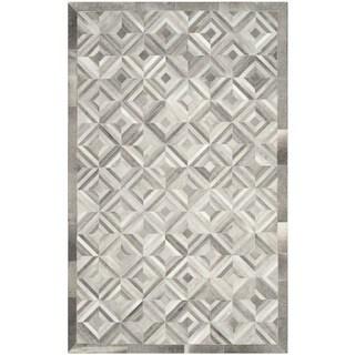 Safavieh Handmade Studio Leather 200 Modern Grey Rug (4' x 6')