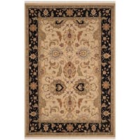 Safavieh Hand-Woven Sumak Light Gold/ Black Wool Rug - 8' x 10'