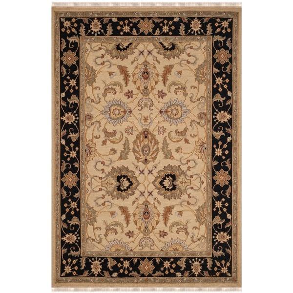 Safavieh Hand-Woven Sumak Light Gold/ Black Wool Rug - 8' x 10'
