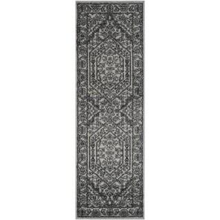 Safavieh Adirondack Vintage Silver/ Black Runner Rug (2' 6 x 22')
