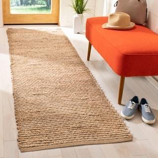 Safavieh Cape Cod Handmade Natural Jute Natural Fiber Rug (2'3 x 14')