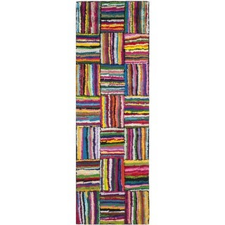 Safavieh Handmade Nantucket Modern Abstract Multicolored Cotton Runner Rug (2' 3 x 13')