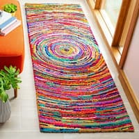 Safavieh Handmade Nantucket Modern Abstract Multicolored Cotton Runner Rug - 2' 3 x 13'
