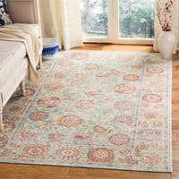 Safavieh Sevilla Light Blue/ Multi Viscose Rug - 4' x 5'7