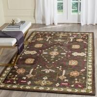 Safavieh Handmade Roslyn Sage/ Ivory Wool Rug (4' x 6')