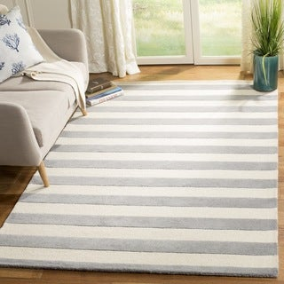 Safavieh Hand-Tufted Cambridge Grey/ Ivory Wool Rug (8' Square)