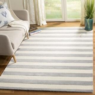 Safavieh Hand-Tufted Cambridge Grey/ Ivory Wool Rug (8' Square)