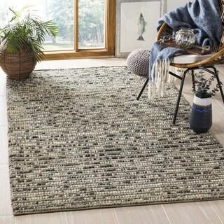 Safavieh Hand-Knotted Bohemian Grey/ Multi Jute Rug (8' Square)