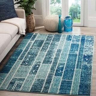 Safavieh Monaco Patchwork Blue/ Multicolored Rug (5'1 x 7'7)