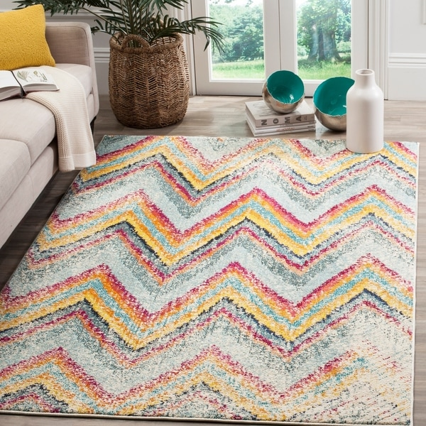 Safavieh Monaco Vintage Chevron Multicolored Distressed Rug - 8' x 11'