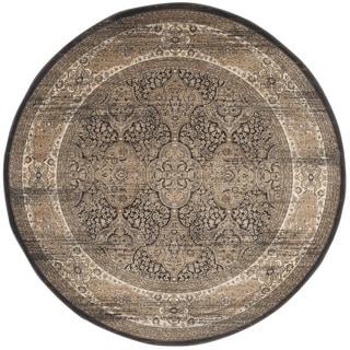 Safavieh Vintage Black/ Ivory Rug (6'7 Round)