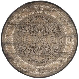 Safavieh Vintage Oriental Black/ Ivory Distressed Rug (6'7 Round)|https://ak1.ostkcdn.com/images/products/9942953/P17097831.jpg?impolicy=medium